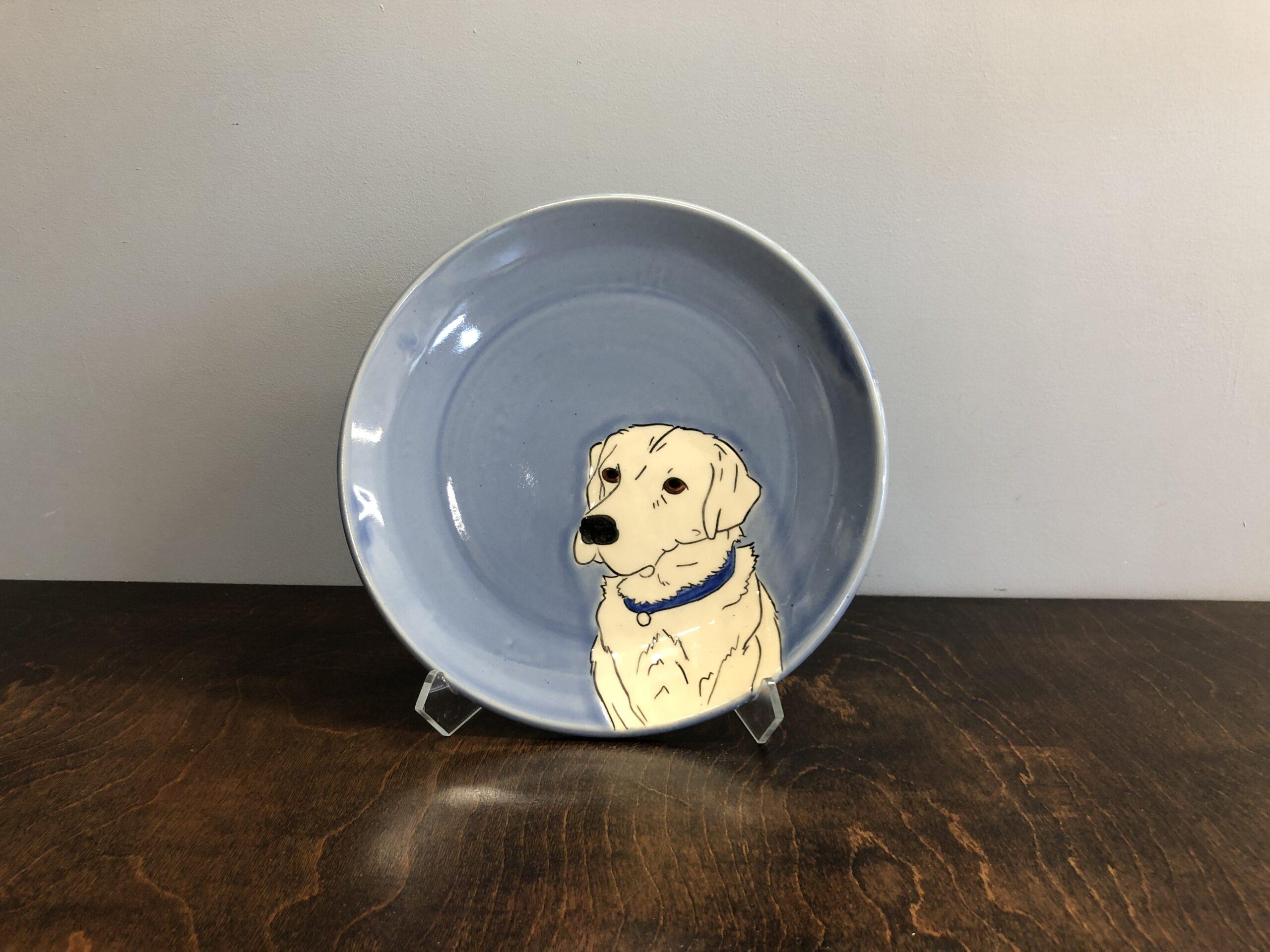 handmade custom pet portrait ceramic mug asheville river arts district